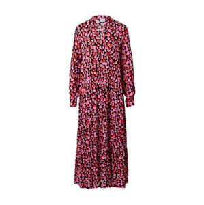 Emily Van Den Bergh Košilové šaty  světle růžová / melounová / bílá / černá
