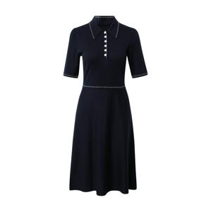 L.K.Bennett Úpletové šaty 'LIV'  tmavě modrá / bílá