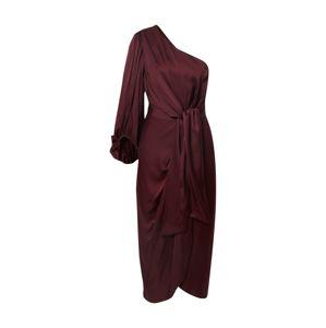 By Malina Společenské šaty 'Leontine'  vínově červená