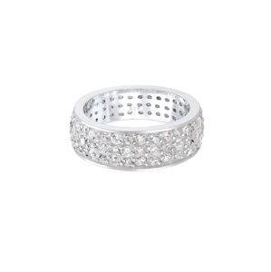 ELLI PREMIUM Prsten 'Bandring'  stříbrná