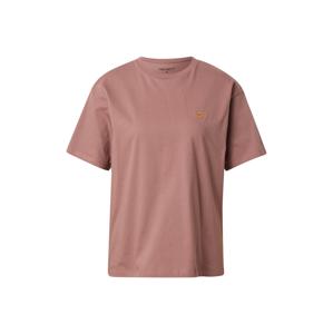 Carhartt WIP Tričko 'Chase'  starorůžová / zlatě žlutá