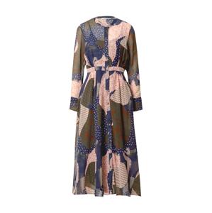 NÜMPH Košilové šaty 'Kyndall'  mix barev / námořnická modř