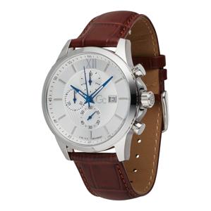 Gc Analogové hodinky 'Executive'  rezavě hnědá / stříbrná