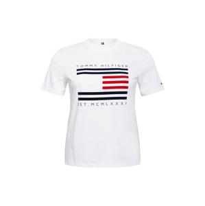 Tommy Hilfiger Curve Tričko  bílá / tmavě modrá / červená