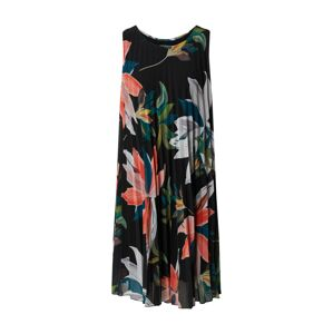 Cartoon Letní šaty  černá / mix barev / lososová