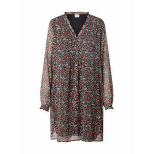 JACQUELINE de YONG Šaty 'Flora'  černá / mix barev